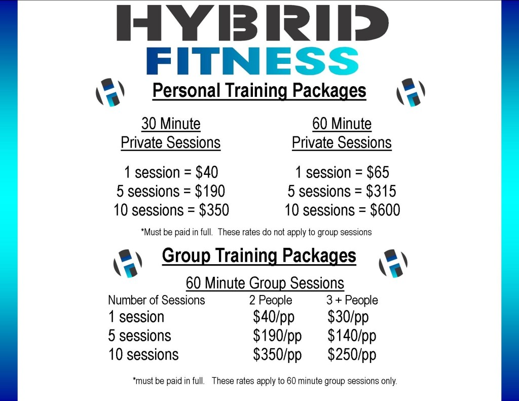 Training Packages sign